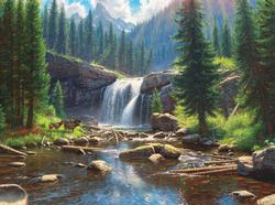 Wonders - Scratch and Dent Waterfalls Jigsaw Puzzle