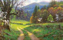 Road to Yesteryear Cottage/Cabin Jigsaw Puzzle