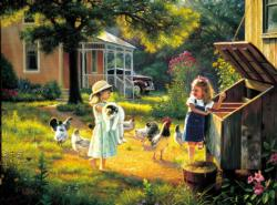 Simple Treasures Chickens & Roosters Jigsaw Puzzle