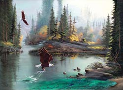 River Eagles Lakes / Rivers / Streams Large Piece