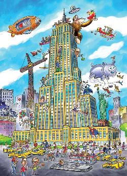Empire State (Doodle Town) Cities Jigsaw Puzzle