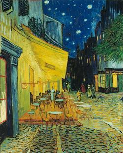 Cafe Terrace at Night Impressionism Jigsaw Puzzle