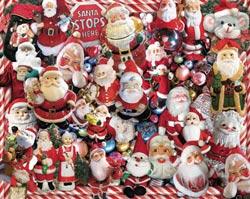 Crazy Santas Christmas Jigsaw Puzzle