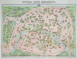 Paris Map 1910 Paris Jigsaw Puzzle