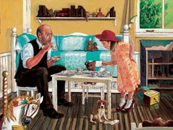 Tea With Grandpa People Large Piece