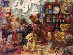 Teddy Bear Workshop Bears Jigsaw Puzzle