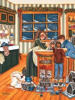 Gingerbread Makers People Jigsaw Puzzle