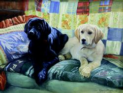 Our Couch Dogs Large Piece