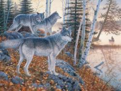 Silent Travelers Wolves Large Piece