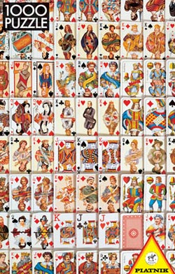 Playing Cards Pattern / Assortment Jigsaw Puzzle