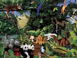 Noah's Gathering Religious Jigsaw Puzzle