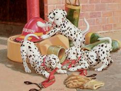 Dalmatian Firehouse Dogs Family Puzzle