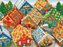 Gingerbread Houses - Scratch and Dent Christmas Family Puzzle