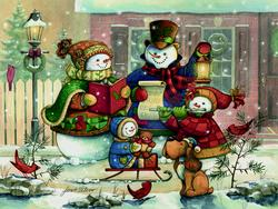 Song for the Season - Scratch and Dent Snowman Family Puzzle