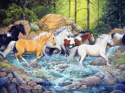 The Horse Crossing Horses Jigsaw Puzzle
