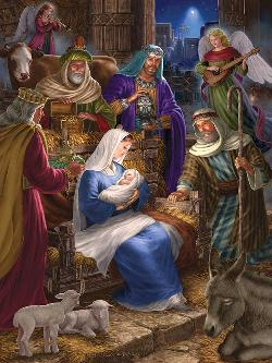 Holy Night Christmas Family Puzzle