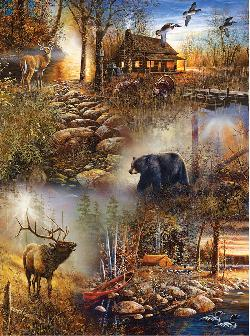 Forest Collage Sunrise / Sunset Jigsaw Puzzle