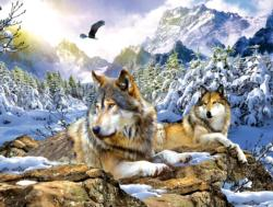 Snow Wolf Wildlife Jigsaw Puzzle