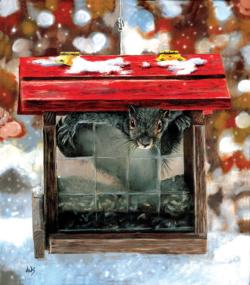 OH OH Caught in the act Snow Jigsaw Puzzle