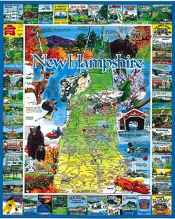 Best of New Hampshire Maps Jigsaw Puzzle