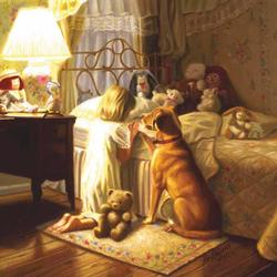 Bedtime Prayer People Jigsaw Puzzle