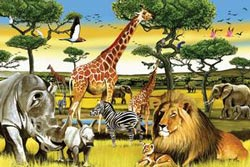 African Plains Zebras Children's Puzzles