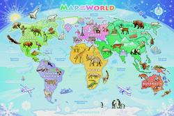 Map of the World Maps Children's Puzzles