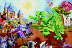 Knights and Dragons Fantasy Jigsaw Puzzle