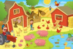 Higgledy Piggledy Farm Cartoons Floor Puzzle