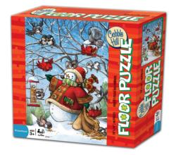 Frosty Feeds His Friends Winter Jigsaw Puzzle