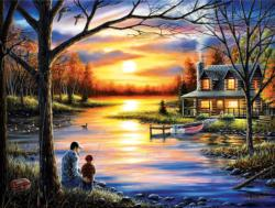 Father and Son Sunrise / Sunset Jigsaw Puzzle