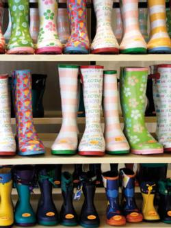 Colorful Rubber Boots (Colorluxe) Photography Large Piece