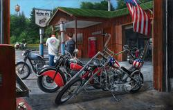 Building Dreams Motorcycles Jigsaw Puzzle