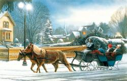 Heavenly Night Winter Jigsaw Puzzle