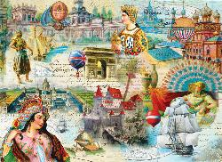Majestic Kingdoms Collage Jigsaw Puzzle