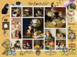 Chat Noir Collage Jigsaw Puzzle