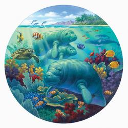 Manatee Beach Under The Sea Jigsaw Puzzle