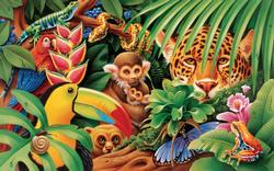 Jungle Animals Snakes Jigsaw Puzzle