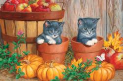 Kittens with Pumpkins Halloween Jigsaw Puzzle