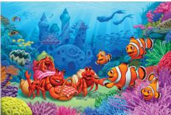 Clown Fish Greeting Cartoons Children's Puzzles