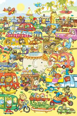 Traffic Jam Cartoons Children's Puzzles
