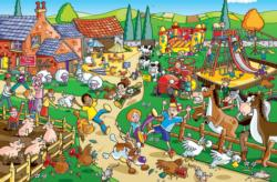 Puppy on the Loose Chickens & Roosters Children's Puzzles
