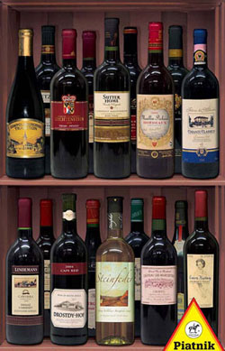 Wines Pattern / Assortment Jigsaw Puzzle