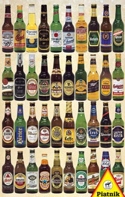 Beer Bottles Pattern / Assortment Jigsaw Puzzle