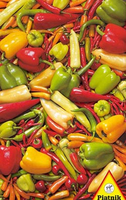 Peppers and Chilis Pattern / Assortment Jigsaw Puzzle