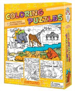 Nature (Coloring Puzzles) Nature Children's Coloring Books - Pads - or Puzzles