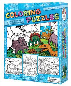 Dinosaurs (Coloring Puzzles) Dinosaurs Children's Coloring Books - Pads - or Puzzles