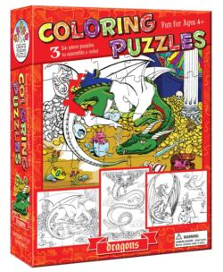 Dragons (Coloring Puzzles) Dragons Children's Coloring Books - Pads - or Puzzles