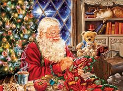 Santa Sew Sweet Santa Jigsaw Puzzle