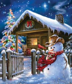 Christmas Cheer Snowman Jigsaw Puzzle